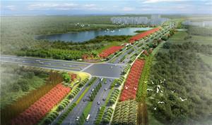 浙江义乌商城大道景观设计